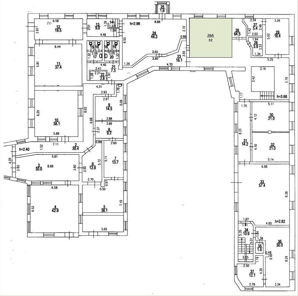 Офисное помещение, офис 211